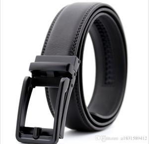 Mens Belts Cowhide Designer Belts Men High Quality Genuine Leather Automatic Buckles Ratchet Belts For Men Brown Black