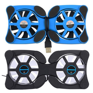 2 Fan Laptop Radiator Foldable Portable USB Cooling Pad Notebook Heatsink Computer Accessories