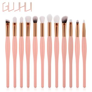 12PCS Professional Makeup Brushes Set Wooden Eye shadow Eyeshadow Brush Makeup Brush Sets Tools Pincel de maquiagem L5108