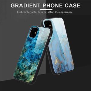 Stilleri Mermer Tasarım Cam Geri Shell iPhone 11 Pro için Max Darbeye Shield Cep Telefonu Koruma iPhone 6 7 8 XS MAX XR Kılıf DHL
