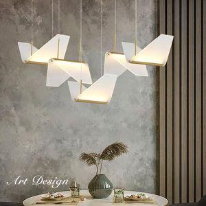 Modern Restaurant Single head LED Chandelier Dining room Lighting Acrylic Living room hanging lamp Bedroom bedside indoor Lights