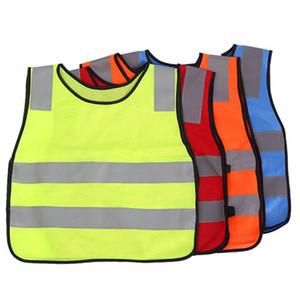 Kinder Schüler Kid Vest Reflektierende Sichtbarkeit Hohe Verkehrssicherheitsweste Kinder Warnweste Jacken 4 FARBEN KKA3004-1