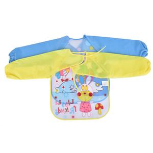 Baby Aprons Bibs Waterproof Long Sleeve Cute Car Fruit Boys Girls Bibs Kids Burp Cloth Feeding Bib with Pocket Child Apron Smock