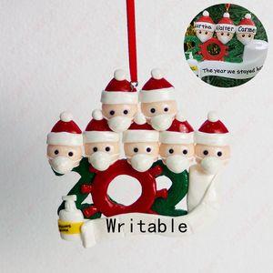 Weihnachtsverzierungen DIY Grüße Quarantäne Weihnachten Geburtstags-Party-Pandemie Social Distanzierung Weihnachtsbaum Anhänger Zubehör BWF1685