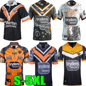 2019 년 2020 년 2021 서양 호랑이 럭비 유니폼 셔츠 (19) (20) (21) 호주 럭비 호랑이 남성 웨스트 타이거 럭비 셔츠 조끼 반바지 S-5XL을 wests