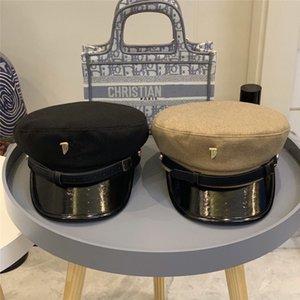 Шерстяной шлем женщины крышки темно-шлем повелительницы зимы осени старший шоу шлем авангардный военной кепке Рождественский подарок навеса 57см черный коричневый