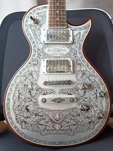 Custom Made Zemaitis Casimere Guitare électrique série avant Métal C24MF MF Natural Guitares électriques Livraison gratuite