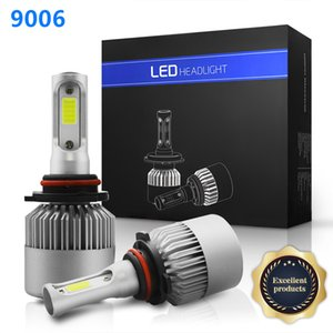 New S2 LED Car Headlights 880 H1 H3 H4 H7 H11 9005 9006 12V 24V COB Auto Light Bulb Headlamp Kit 6000K 72W 8000LM