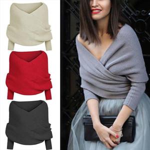 Women Solid Scarf Sleeve Crochet Knit Long Soft Winter Shawl cashmere shawls brand neck bandana pashmina lady wrap