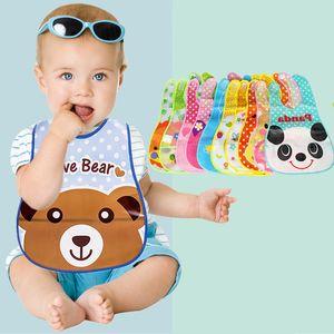 Newborn Baby Eating Bibs EVA Baby Feeding Apron Towel Cartoon Pattern Waterproof Baby Bibs Newborn Supplies Clean Unisex AAB1238