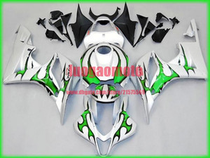 Gift Injection fairings kits for white green Honda CBR600RR F5 fairing set 07 08 CBR 600 RR 2007 2008 motorcycle bodywork cowlings parts