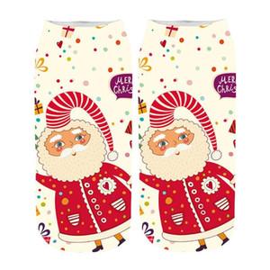 Calzini Pazzo calzini del fumetto 3D di Natale divertente 1 paio di alta qualità delle donne stupefacente sveglia della novità Stampa caviglia calzino comodo # 35