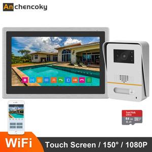 Anchencoky 10 polegadas Wireless WiFi inteligente IP vídeo porteiro Intercom Sistema 1080P amplo apoio Camera Angle Doorbell desbloqueio remoto