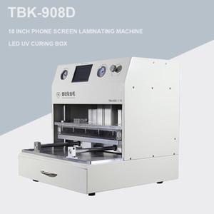 TBK 18 pulgadas de pantalla táctil LCD de vacío Laminador Machine OCA de vacío de la lámpara de curado máquina laminadora + UV Curved Touch reparación de la pantalla