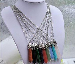 Cristalli pendenti della collana Healing Rosa Quarzo Reiki Healing Bead Pendulum collane dei pendenti