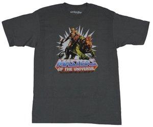 Maestri della T-shirt Universe Mens - He-Man Battle Ready su Battle Cat Cartoon uomini della maglietta unisex Il nuovo modo maglietta