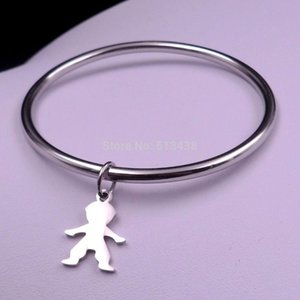 Choose 5pcs lot of Stainless Steel Baby Boy   Girls charms bracelet on sale jewelry