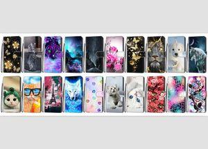 Flip für Iphone 12 LG K31 K51S K41S K61 Velvet ZTE Axon 11 SE 5G 3D Cartoon-Blumen-Mappen-Leder-Kasten-Hundekatze-Bügel-Tiger-Standplatz-Telefon-Abdeckung