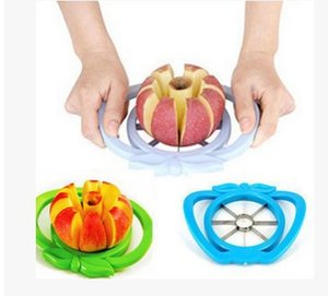 Multifunctional steel fruit cutter with double handles Apple slicer Fruit cutting and coring kitchen gadget