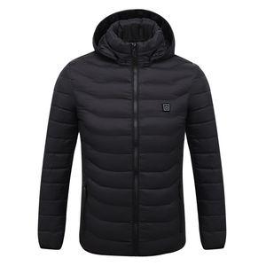 Новая куртка с подогревом Открытого Coat USB электрических Пешеходная куртка Мужчины Женщина с длинными рукавами с капюшоном Отопление Теплой Термические одежд