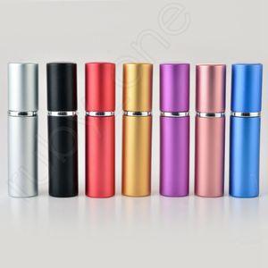 5 ml Taşınabilir Mini Alüminyum Doldurulabilir Parfüm Şişesi ile Sprey Boş Makyaj Kapları Gezgin RRA3607 için Atomizer ile