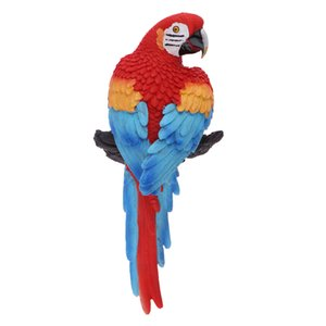 Sammlertier Figur Statue Bunte Papageien für Hausgarten-Rasen-Yard