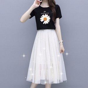 GjjGs девушки Daisy Suit детей юбки 2020 Костюмы для мальчиков и кл и Литтл лето новый двухсекционный костюм модных корейских женщин типа девочек