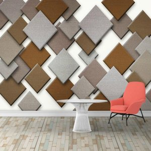 Cloth 3d stereo diamond stitching decorative painting wallpaper for walls home improvement 3d wallpapers living room bedroom