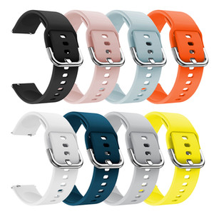 Saf Renk Silikon Yedek Watchband İçin Huami Amazfit GTS 20mm Akıllı Saat Kayışı İçin Xiaomi Huami Gençlik İzle