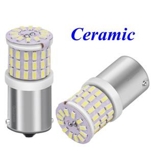 2PCS 1156 BA15s 7506 P21W R10W R5W LED Ceramic Car Tail Brake Lamps Turn Signals Auto Rear Reverse Bulbs Daytime Running Light