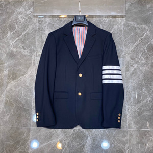 2019new Black Fashion smokings marié rouge, rayures blanc et bleu affaires Lapel Robe de mariée excellente Homme Veste Costume Blazer