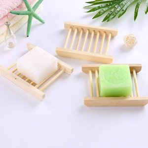 Natural Wooden Soap Tray Holder Bamboo Soap Dishes Soap Rack Plate Container Shower Bathroom Accessories EWC1304
