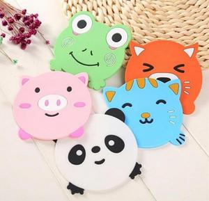 Silikon Yemek Masası Placemat Coaster Mutfak Aksesuarları Mat Kupa Bar Mug Karikatür Hayvan Panda Kurbağa Kedi Domuz İçecek Pedler Toptan DHL ücretsiz