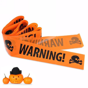 Halloween Warning Line Tape Signs Caution Tape Danger Warning line Party Decoration Haunted House Props HHF1544