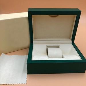 Luxe MensWatch Box 116610 Montres extérieur d'origine intérieure de Papiers Carte de Portefeuille BoxesCases hommes Rol boîte verte Livraison gratuite