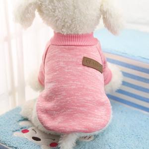 Venta caliente de la chaqueta de la Navidad del perro del animal doméstico de colores de moda suéter con capucha Perros ropa deportiva con capucha Jumper perros de perrito Escudo Ropa de peluche