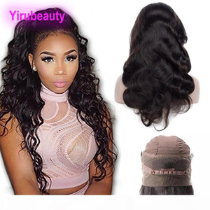Indian Raw Virgin Hair Lace Frontal Wigs Body Wave 360 Frontal Wig 8-26inch Pre Plucked Wholesale Lace Wig Baby Hair