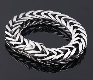 New Fashion 316L stainless steel bracelet snake styles high quality men bangles link chains stainless steel jewelry Free Shipping Factory
