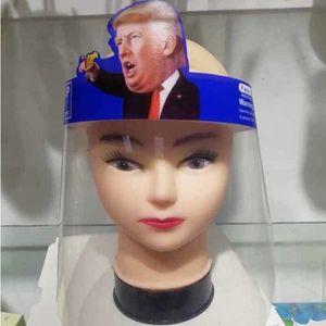 Trump DHL Shipping Shields Biden Reusable Faceshield Transparent Masks Anti-Fog Layer Protect Eyes from Splash Full Face Cover X433FZ