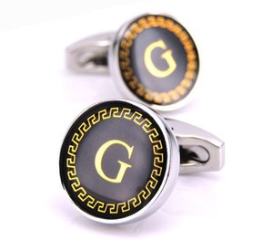 Cgjxs New Arrival Fashion Letter A D R H M Cufflinks The English Alphabet Cuff Links Men Shirt Charm Cufflinks Wholesale Free66
