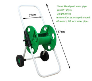 2020 New Portable Hand push Garden Hose Reel Seal Strong Watertight Hose Cart Car Wash Household Water Holder