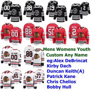 Inverno Classic Chicago Blackhawks Jersey Alex Kirby DeBrincat Dach Duncan Keith Patrick Kane Chris Chelios Hockey pullover su ordinazione cucita
