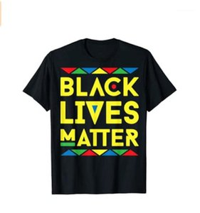 Crew Neck Loose Casual Tops Designer Summer New Male Short Sleeve Tees Tshirts Black Lives Matter Equter Man T-shirts Fashion Trend Letter