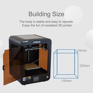 Heatbed Createbot 3D Printer ile Ev Kullanıcısı Serin Siyah Tek Extruder dokunmatik ekran Yüksek Kalite 3D Printer