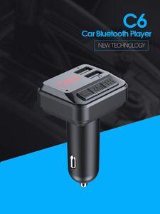 LUTU Bluetooth 5.0 FM Transmitter Car Kit MP3 Modulator Player Wireless Handsfree Audio Receiver Dual USB Fast Charger 3.1A