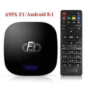 A95X F1 Android 8.1 Smart TV Box Amlogic S905W Quad Core pour Smart TV Set Top Box 4K WiFi PK X96 mini