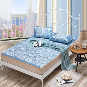 Summer Cool mat kit fitted sheet Jacquarde folding sheet mat bed cover for summer rattan 1.8m 1.5m bed bedding