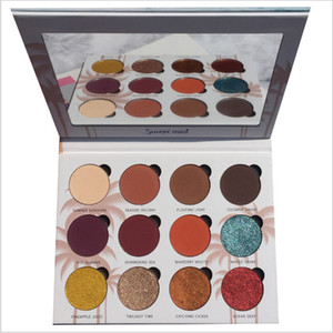 Eyeshadow Pallete makeup brushes 12 Color Makeup Palette Shimmer Eye Shadow Make Up Cosmetics Shadows Waterproof Beauty Glazed