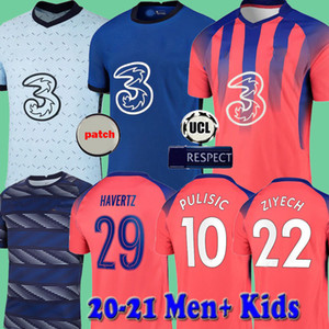 20 21 Chelsea Havertz WERNER Chilwell PULISIC Kanté ziyech Silva Футболки 2020 2021 Футболки Camiseta de Football с футболкой-поло перед матчем