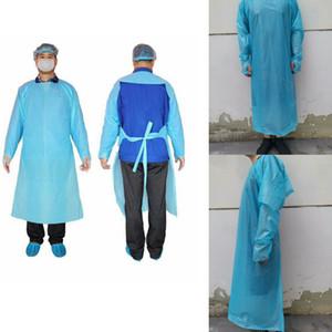 Einweg-Schutzkleidung CPE Kleider Kleidung Anzüge Elastic Cuffs Antistaub Außenschutz Einweg Regenmäntel FFA4425